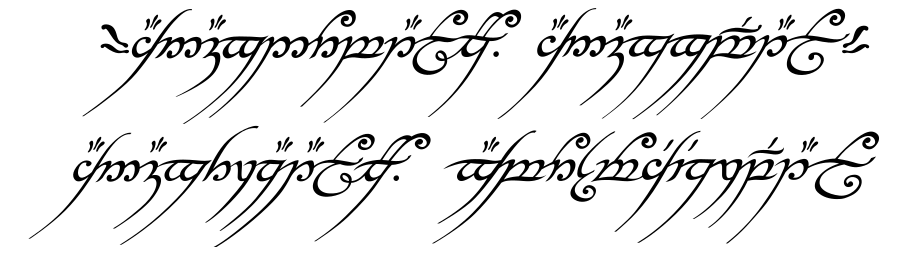 texto anillo unico